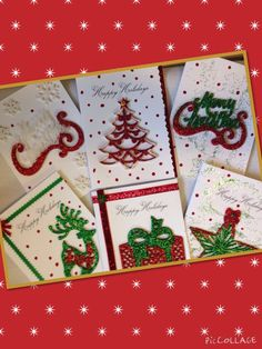 SALE 6 Handmade Holiday Christmas Greeting Cards by TMStreasures