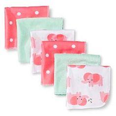 Circo™ Girls' 6 pack Washcloth - Pink : Target