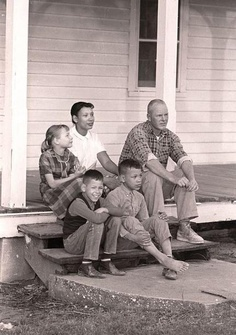 The Lovings at their Central Point home in southeastern Caroline with their children The parents were involved in Loving v. Virginia, the US Supreme Court case that decriminalized mixed marriages.