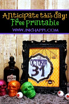 What a great print to add to your Halloween Decor! Free printable