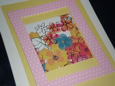 Pink and Yellow For Anyone Card by giftcardsbynlo on Etsy, $4.95