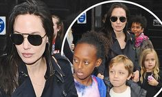 Angelina Jolie takes her brood to see Wicked in London's West End