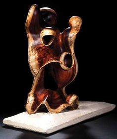 """Spirits and Ancestors"" by Brad Sells.  Curly Koa wood"