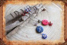 """Collier fantaisie ethnique personnalisé avec pendentif runique """"Eg elska þig"""" _ Bijou réalisé à la commande : Collier par freyja-s-faeries"""