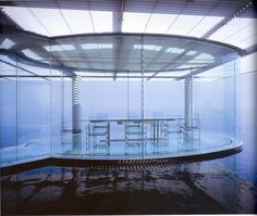 Kengo Kuma Modern Japanese Architecture, Amazing Architecture, Kengo Kuma, Floating House, Water Glass, Glass House, All Design, Floor Plans, Contemporary