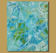 abstract painting geometric painting blue by SageMountainStudio, $389.00