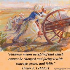 """For Pioneer Day, July we celebrate the Mormon Pioneers. They endured many trials on their journey, but they also grew in their faith. Historian Wallace Stegner wrote of the pioneers """"I [do not] doubt their frequent devotion and heorism in service [of. Pioneer Trek, Pioneer Day, Pioneer Women, Pioneer Life, Mormon History, Mormon Pioneers, Arte Lds, Trek Ideas, Padre Celestial"""