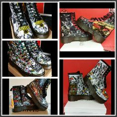 This item is unavailable Goth Platform Boots, Dr Martens Style, Funky Shoes, Punk Goth, Sons Of Anarchy, Prints For Sale, Dr. Martens, Printing On Fabric, Custom Made
