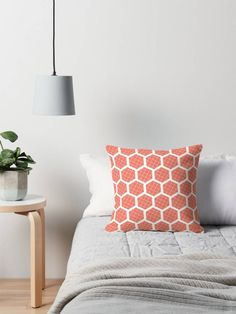 Orange cushion, geometric cushion, Hexagon decor, Orange throw pillow, Hexagon cushion, sofa cushion, orange home decor, Modern cushions by ShadowbrightLamps on Etsy https://www.etsy.com/uk/listing/592420771/orange-cushion-geometric-cushion-hexagon
