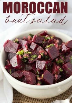 This recipe for Moroccan Beet Salad was submitted by Serena of Surviving Madness in the Appetizers/Side Dish Category in the zuuzs Grand Spring Recipe Challenge! Do you like beets? You might also like this Beet Salad. Vegan Burrito, Beet Salad Recipes, Detox Recipes, Recipes For Beets, Smoothie Recipes, Vegetarian Recipes, Cooking Recipes, Healthy Recipes, Healthy Moms