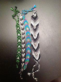 Beaded Chevron Friendship Bracelet #jewelry #knots #braid #kids