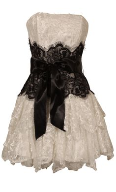 Strapless Bustier Contrast Lace and Crinoline Ruffle Prom Mini Dress Junior Plus Size   Prom Short Dresses