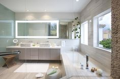Standing Java Tan pebble tile wall in bathroom wall
