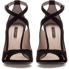 Zara Cross Strap Sandal ($90) ❤ liked on Polyvore