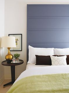 DIY Painted Wood Headboard | House & Home