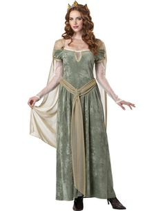 Queen Guinevere [FD70207] - £43.99 : Get It On Fancy Dress Superstore, Fancy Dress & Accessories For The Whole Family. http://www.getiton-fancydress.co.uk/adult-costumes/tales-of-old-england/queen-guinevere#.Us86lvu6-RM