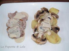 Filet mignon de Porc,sauce crème et champignons au thermomix