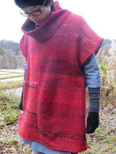 Rice color weave roll color tunic red