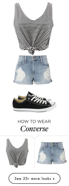 """""""Без названия #724"""" by gazieva-dinara on Polyvore featuring WithChic, Frame and Converse"""