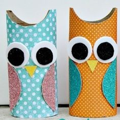 If you have some extra paper rolls lying around, you can create these cute owl decorations to spice up your room. For more cool projects like this click the link in the bio #diy #crafts #fun #cute #diyideas #crafty #diyprojectsforteens #diyproject #craft #projects #teens #hi #swag #teenagers #creative #project #awesome #art #artsy #paper #roll #owl #decoration