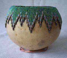 beaded gourds | beaded gourds | Craft Ideas