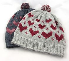 V_is_for_valentine_two_hats_small   V is for Valentine Pom Pom Hat by Two Stix Studios