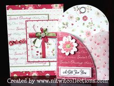 Gift card holder and card for a more personalized Christmas gift. Gift Card Hybrid by Nitwit Collections