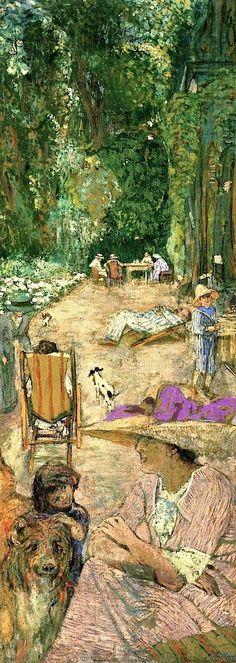 The Pavilions at Cricqueboeuf, in Front of the House Edouard Vuillard - 1911 Pierre Bonnard Pierre Bonnard, Edouard Vuillard, Monet, Beautiful Paintings, Paintings I Love, Beaux Arts Paris, Maurice Denis, Illustration, Paul Gauguin