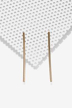 Bar None Earrings - Accessories   Earrings