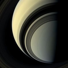 NASA's Cassini spacecraft took these stunning photos of Saturn and its moons from orbit.
