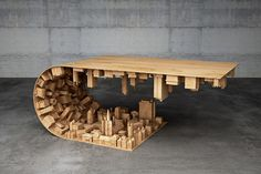 Wave City – Coffee Table Inspired by Inception Movie
