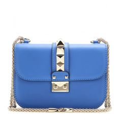 Valentino Lock Small Leather Shoulder Bag (€1.715) ❤ liked on Polyvore