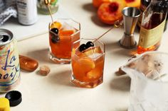 Peach and Orange Flower Old Fashioned   Joy The Baker   Bloglovin'