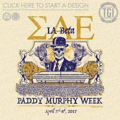 TGI-Sigma Alpha Epsilon Paddy Murphy: Greek Letters serif skeleton lions coffin roses paddy Murphy week line swirl distressed