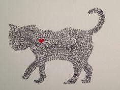 Custom Handwritten Dog Cat or Bird  by AWittCreationDesigns