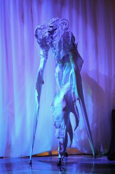 Winter / Ice / White themed stilt walker to enthrall party guests www.innercirclepartie.com