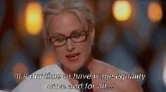 When Patricia Arquette won the whole Oscars by calling for wage equality for women