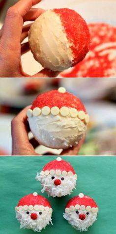 Adorable And Easy Santa Cupcakes