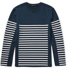 Alexander Wang T By Alexander Wang Striped Loopback Cotton-Jersey Sweatshirt