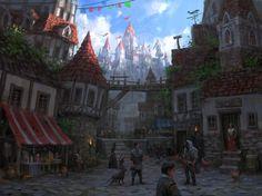 Concept Art Fantasy Medieval City