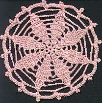 Free Pattern: Crochet Picot Petals Coaster. Just Beautiful.