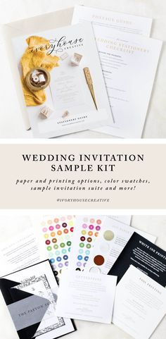 Select your perfect stationery with the help of our wedding invitation sample kit. Complete with our stationery guide, color swatches, paper swatches and more. Wedding Invitation Etiquette, Wedding Invitation Samples, Classic Wedding Invitations, Invitation Suite, Custom Invitations, Kit, Wedding Stationery Inspiration, Advice For Bride, Wedding Invitations