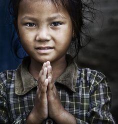Praying in Nepal