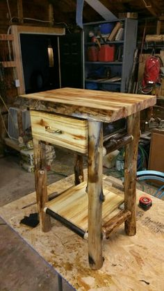 End tables, or nightstand, turned out well! #rusticfurniture #aspenfurniture #logfurniture