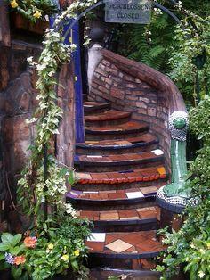 Hundertwasser's Kunst Haus, Vienna graceful stairs