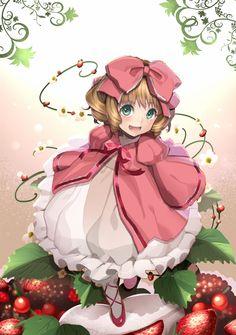 Tags: Anime, Koyoi Mitsuki, Rozen Maiden, Hinaichigo, Strawberry, Pink Outfit, Pink Dress
