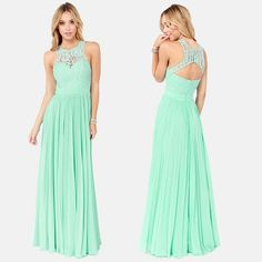 Wholesale cheap mint bridesmaid dresses online, 2015 spring summer - Find best new style floor-Length mint green bridesmaid dresses scoop tank straps lace evening gown formal 2014 chiffon long elegant prom dress at discount prices from Chinese bridesmaid dress supplier on DHgate.com.