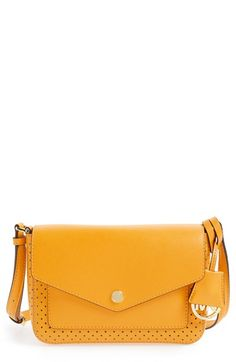 MICHAEL Michael Kors 'Small Greenwich' Perforated Leather Crossbody Bag available at #Nordstrom