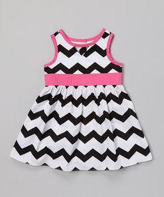 Black & White Zigzag Dress - Infant