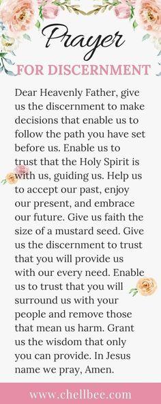 for Discernment Prayers for Strength Prayer For Discernment, Prayer For Guidance, Prayer Scriptures, Bible Prayers, Faith Prayer, God Prayer, Power Of Prayer, Guidance Quotes, Discernment Quotes